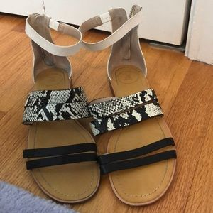 Worn once French connection Sandals